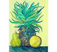 Pear and Pineapple Photographic Print