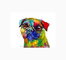 Colorful Whimsical Watercolor Pug dog painting Svetlana Novikova Unisex T-Shirt
