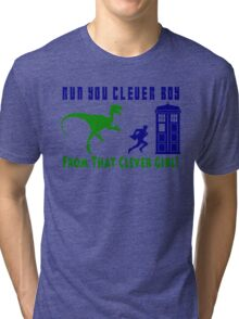 Run Clever Boy, From That Clever Girl Tri-blend T-Shirt