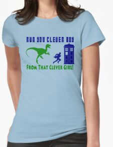 Run Clever Boy, From That Clever Girl Womens Fitted T-Shirt