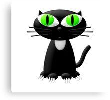 Cute Black Kitten  Canvas Print