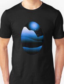 Blue Moon Mountain Landscape Unisex T-Shirt