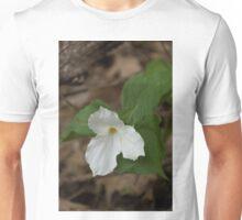 Spring Forest Walk Treasures - White Trillium Flower Unisex T-Shirt