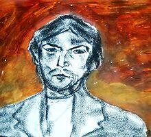 Pedro the Printer ( after Modigliani) by Christopher  Raggatt