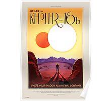 Retro NASA Travel Poster - Kepler 186f Poster