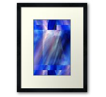 Abstract Composition in Bright Blues and Soft Pinks – June 28, 2010 Framed Print