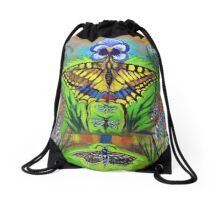 Inside the Garden Drawstring Bag