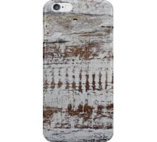 Sanded timber & whitewash iPhone Case/Skin