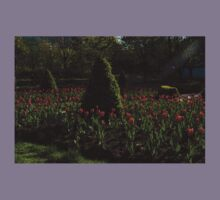 Downtown Victorian Garden - Red Tulips and Sunshine Kids Clothes