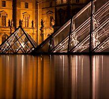 pyramid by night by Dan A'Vard
