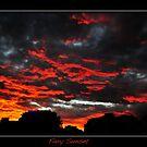 Fiery Sunset by AdamR