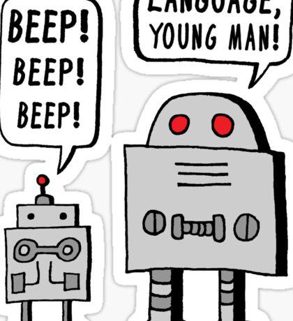 Beeping Robot Sticker