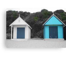 Beach Boxes, Mornington Canvas Print