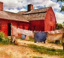 Laundry - The Clothes Line by Mike  Savad
