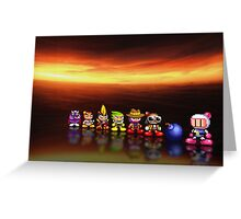 Bomberman - Panic Bomber pixel art Greeting Card