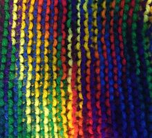 Rainbow knit  by clairerudolph