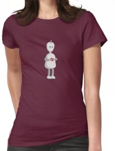 Robots Need Love Too Womens Fitted T-Shirt