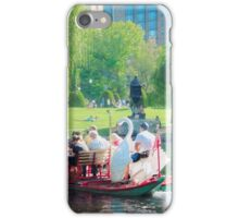 Swan Boats Boston Massachusetts iPhone Case/Skin