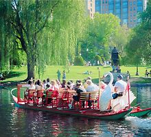 Swan Boats Boston Massachusetts by Elizabeth Thomas