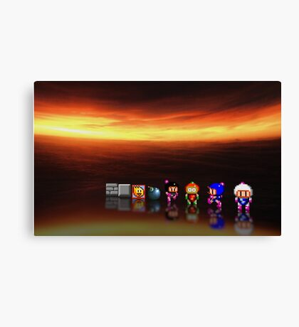 Super Bomberman pixel art Canvas Print