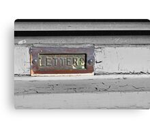 The Forgotten Letterbox Canvas Print