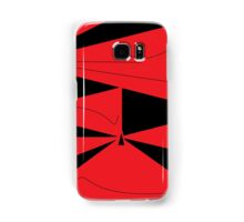 Red and Black Abstract Samsung Galaxy Case/Skin