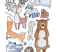 Woodland Creatures Collage by Bumble & Bristle