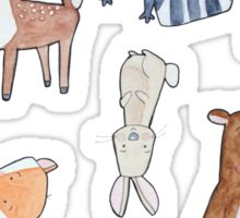 Woodland Creatures Collage Sticker
