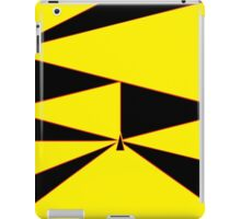 Triangle Yellow, Black, and Red iPad Case/Skin