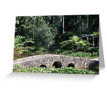 Bridge in the Botanical Gardens Greeting Card