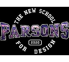 Parsons - the new school for design purple sunset print Photographic Print