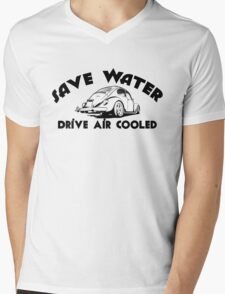 Save Water Drive Air Cooled Mens V-Neck T-Shirt