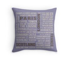 France, London, Scotland, Paris Throw Pillow
