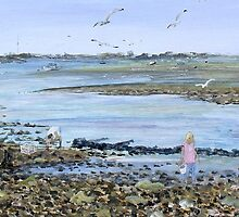 Clam Diggers Hayling Island by Juanita Newton