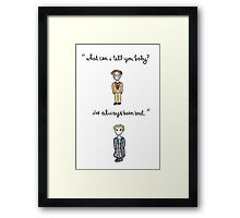 Fool For Love Spike Quote Framed Print