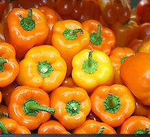 Fresh Produce - Orange Peppers by Paulette1021