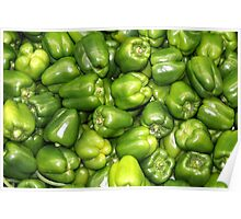 Fresh Produce - Green Peppers Poster