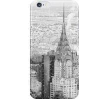 New York City - Snow Falls - Chrysler Building iPhone Case/Skin