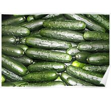 Fresh Produce - Cucumbers Poster