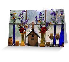 Spring Windowsill ~ Rainy Texas Morning Greeting Card