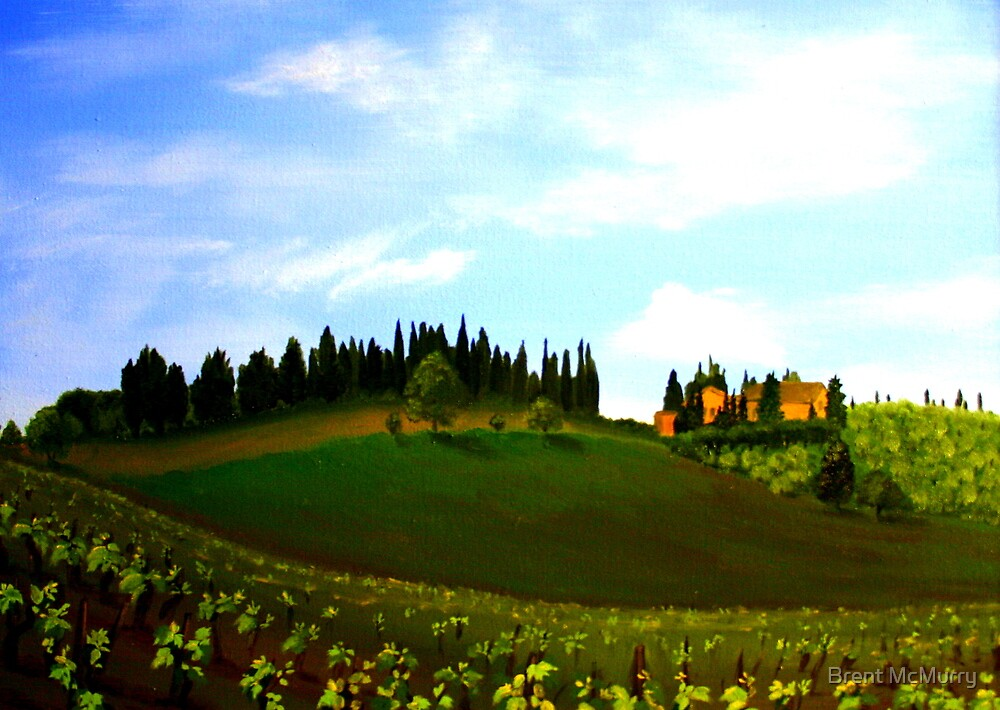 View from an Italian hillside. by Brent McMurry