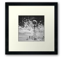 Outback water hole Infrared Framed Print