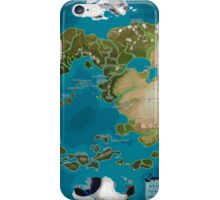 Avatar the Last Airbender Avatar World Map iPhone Case/Skin