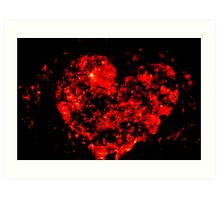 Burning ember heart Art Print