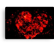 Burning ember heart Canvas Print