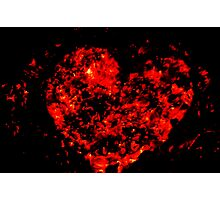 Burning ember heart Photographic Print