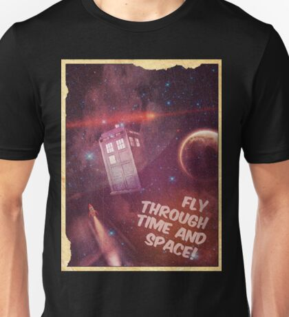 Retro Doctor Who Tourism Unisex T-Shirt