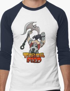 Top or Feed  Men's Baseball ¾ T-Shirt