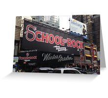 School of Rock Marquee Greeting Card