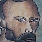 A portrait of Vincent Van Gogh. by Tim  Duncan